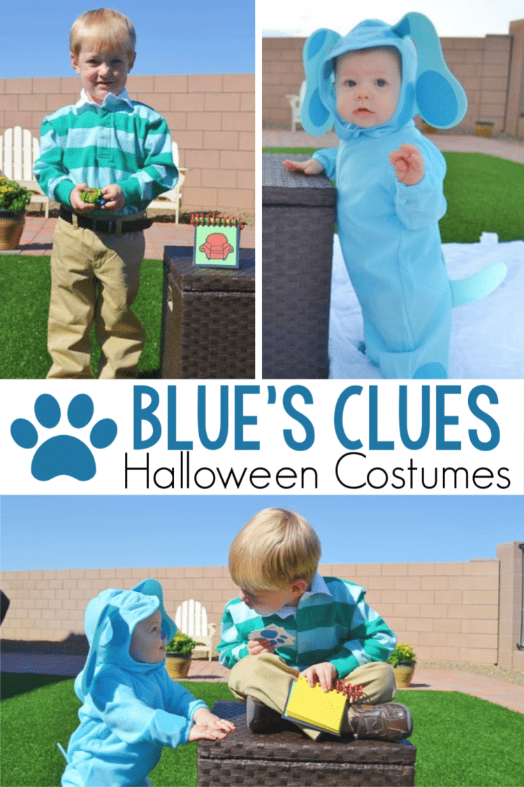 These adorable Blue's Clues costumes are perfect for a brother and sister! #Halloween #costumes