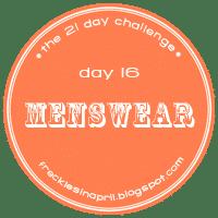 Day 16- Menswear