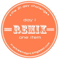 21 Day Challenge- Day 1