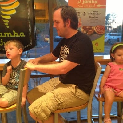 Family Date Night at Jamba Juice
