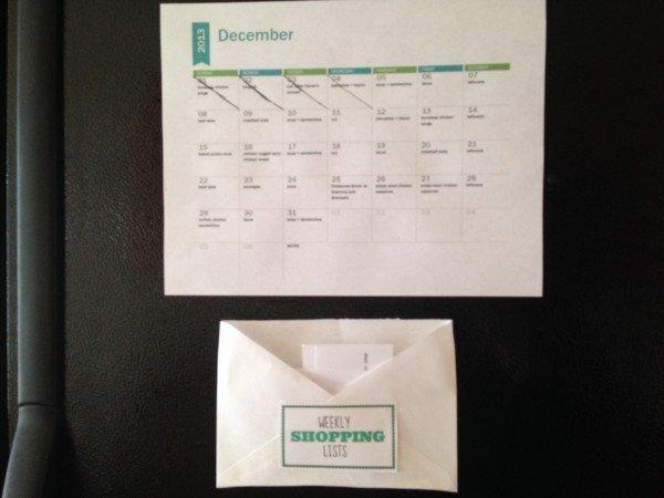 meal calendar