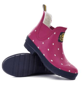pink rain booties