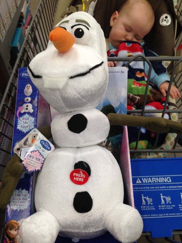 Pull-Apart Olaf Toy from Walmart, #FrozenFun, #shop #cbias