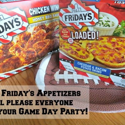 Have a Game Day Party with the Kids and TGI Friday's Appetizers