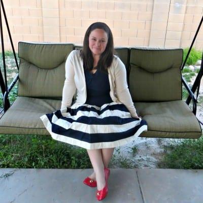 What I Wore: Striped Nautical Skirt