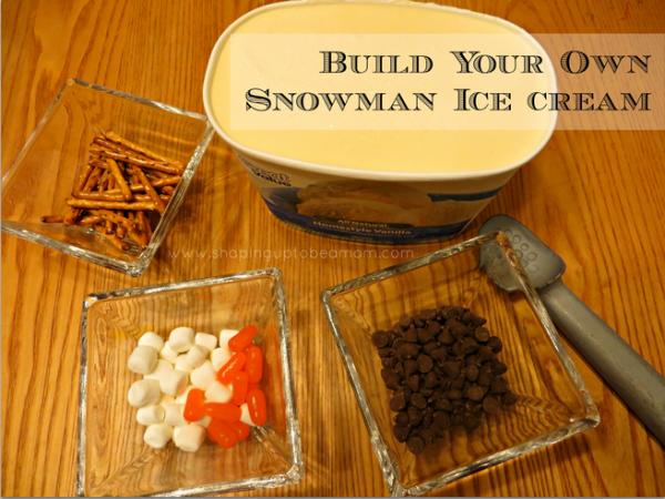 Build-Your-Own Snowman Ice Cream, #FrozenFun, #shop #cbias