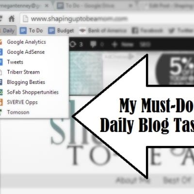 My Must-Do Daily Blog Tasks