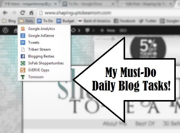 daily blog tasks