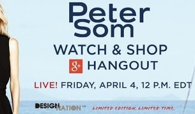Peter Som For Kohls Watch & Shop Google Hangout