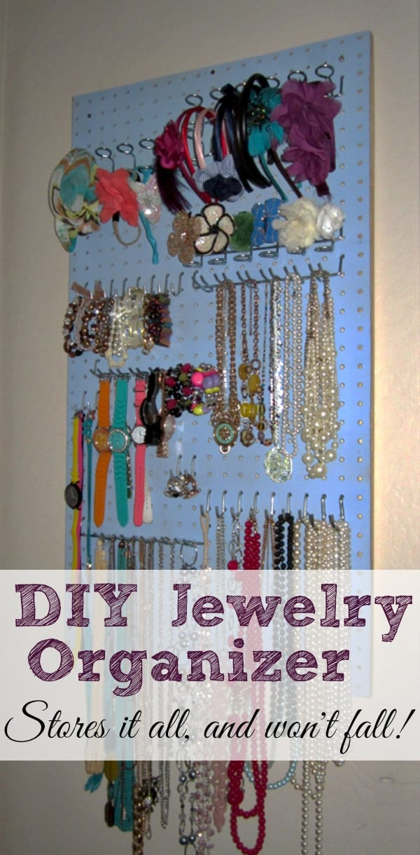 DIY Jewelry Organizer - Shaping Up To Be A Mom