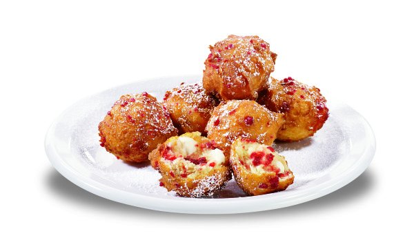 Strawberry Pancake Puppies