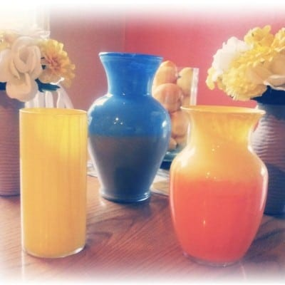 Painted Flower Vases {quick & easy craft}