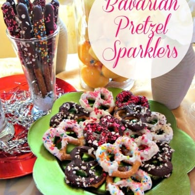 Bavarian Mini Pretzel Recipe: Chocolate-Dipped Sparklers