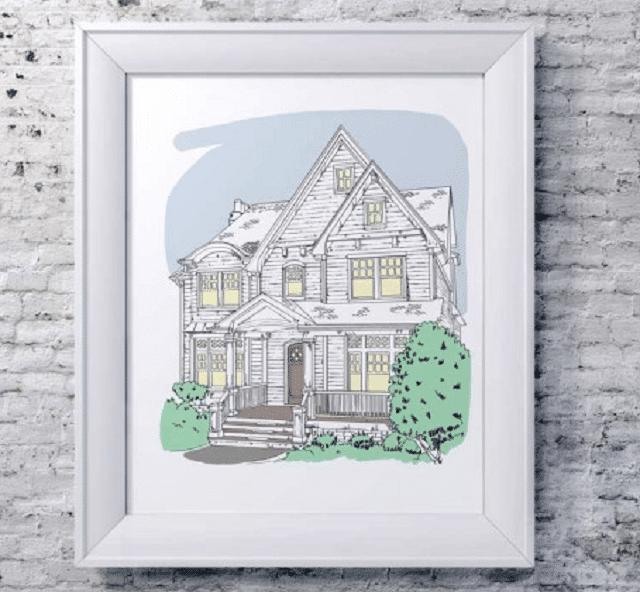 customized-house-portrait