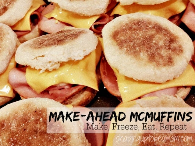 Quick and easy breakfast for those hurried mornings! These freezer Egg McMuffins reheat in just 1 minute.