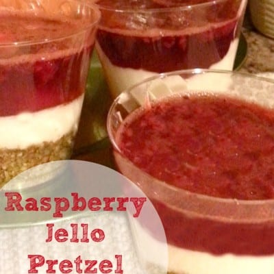 Raspberry Jello Pretzel Cups {Mini Pretzel Recipe}