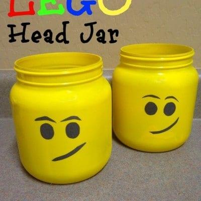 Lego Party Ideas: Lego Head Jar