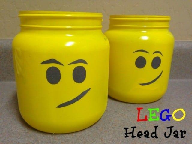 Lego Head Jar