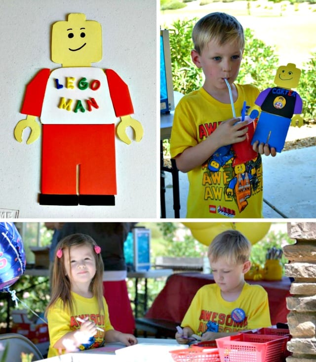 Lego Man Party Activity #LegoPartyIdeas