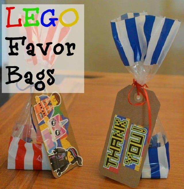 Lego Party Ideas: Lego Favor Bags