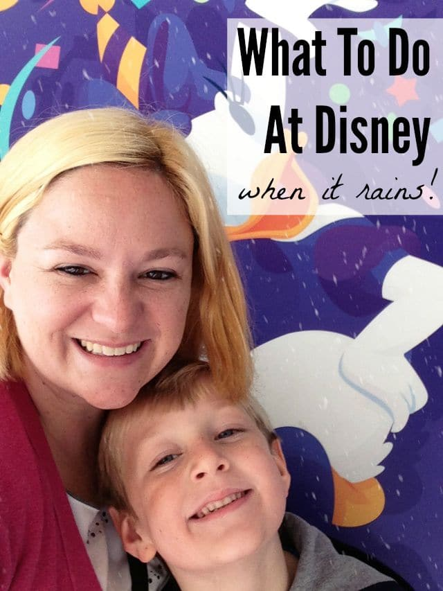There are lots of fun things to do at Disney, no matter what the weather!