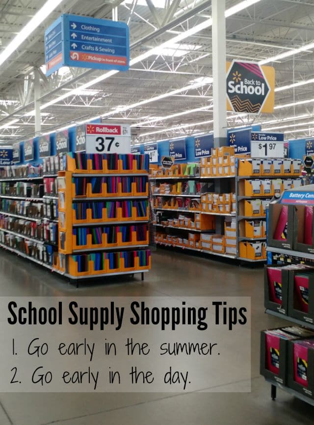School Supply Shopping Tips