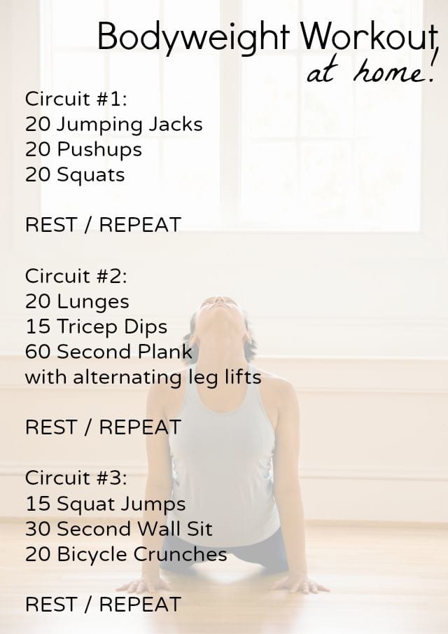 beginner bodyweight at home workout