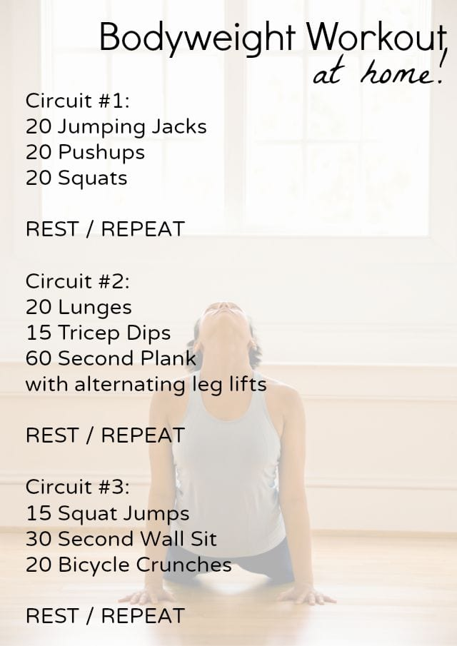 Beginner Bodyweight Workout At Home
