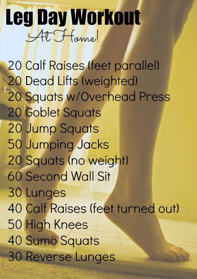 leg at home workout