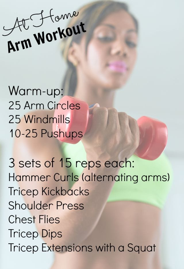 At Home Workout for Arms