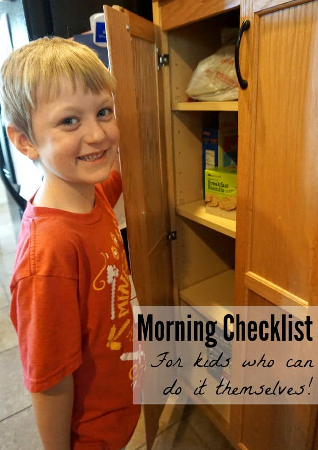 Kids' Morning Checklist, to help them remember how to get ready!
