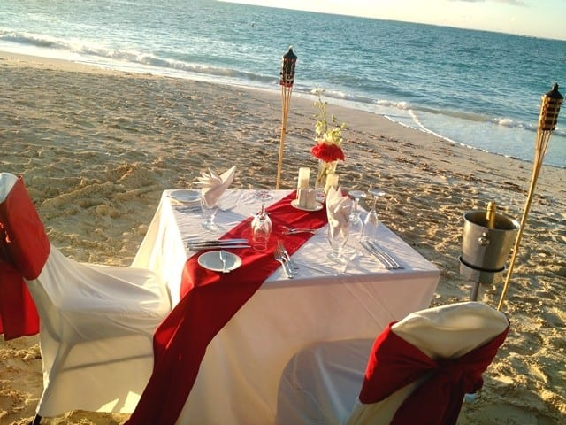 Anniversary Dinner on the Beach
