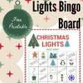 Christmas lights bingo board