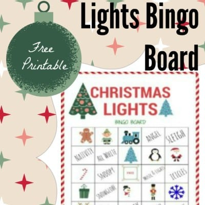 Christmas Lights Bingo Game Printable