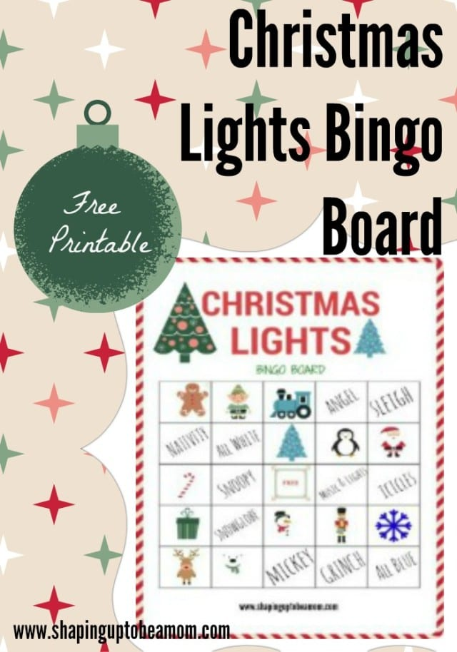 Christmas Lights Bingo Board- a fun new way to experience Christmas lights with your family!