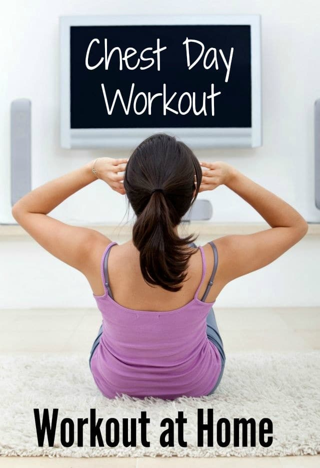 If you want to get fit at home, on a budget, you can't beat this great chest workout! It can be done in your own living room, with no equipment or you can add some hand weights for more resistance. Click through for the full workout description and to find more great workouts you can do at home!