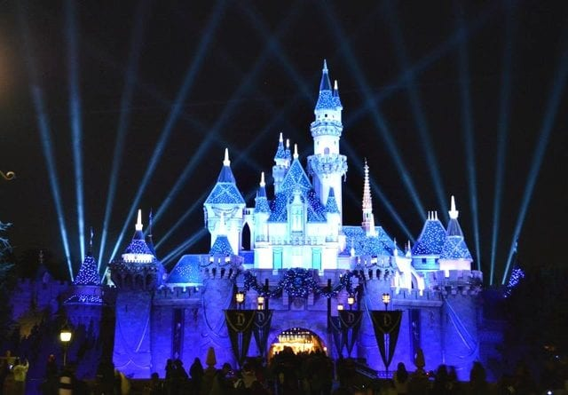 60th anniversary castle at night