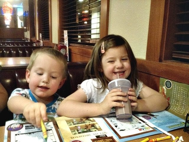 Coloring Denny's Kids Menu