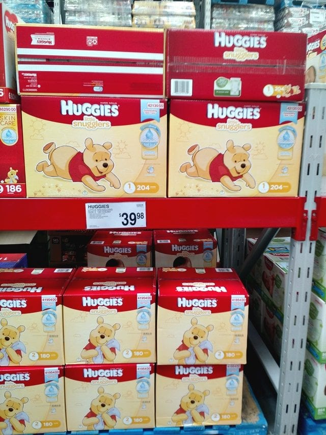 Huggies Little Snugglers at Sam's Club