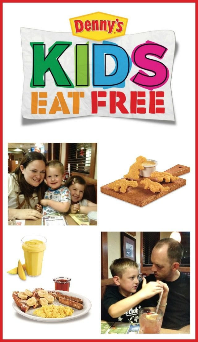 Kids Eat Free at Denny's, on Tuesdays and Thursdays in Phoenix (and maybe where you live too)! We took our kiddos for a late night dinner in their PJs!