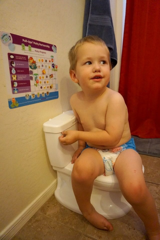 Potty Training Routine with stickers