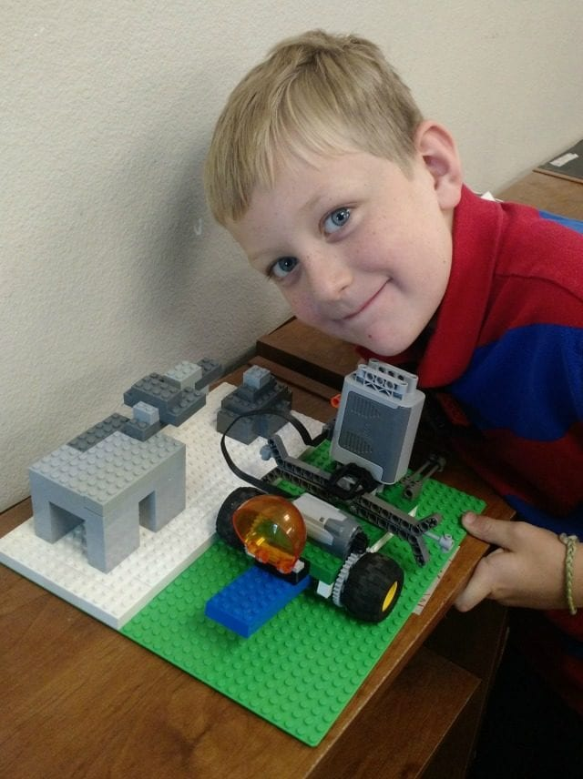 Carter's LEGO camp creations