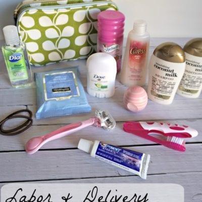 DIY Push Pack for Mom's Hospital Bag