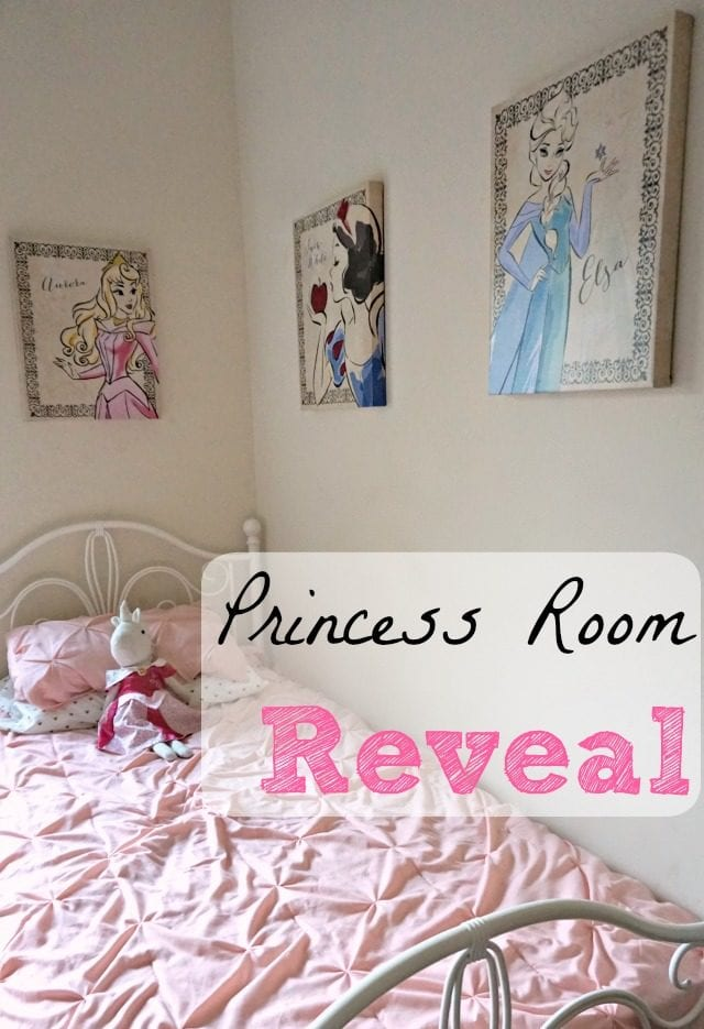 With a princess-crazed 5-year-old daughter, and another baby girl on the way, it was time to put together the perfect princess room for them! Come see all of the elements I brought together to create their own little kingdom!