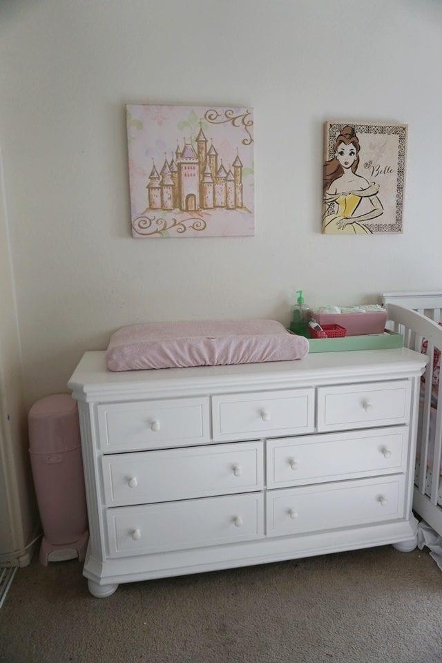 white double dresser