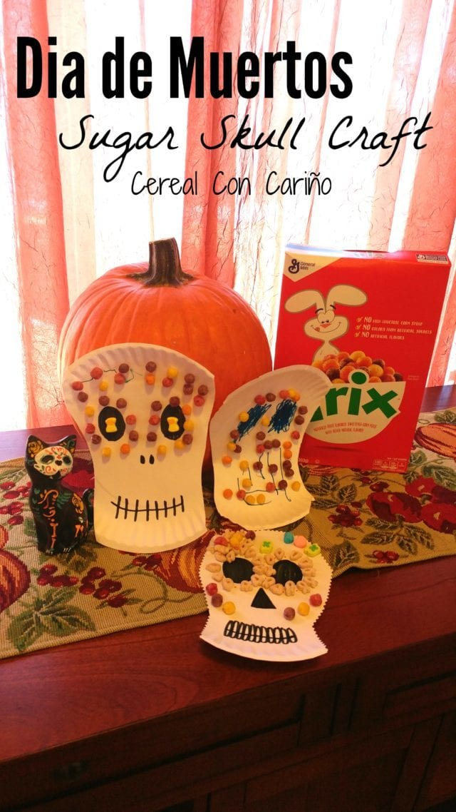 Celebrate Dia De Los Muertos with this cute (and yummy!) Sugar Skull Craft! (ad)