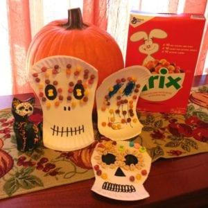 Dia De Los Muertos Sugar Skull Craft with Cereal Con Cariño