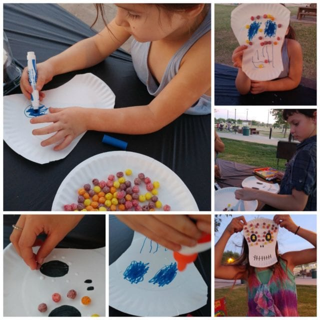 Sugar Skull Craft with Cereal