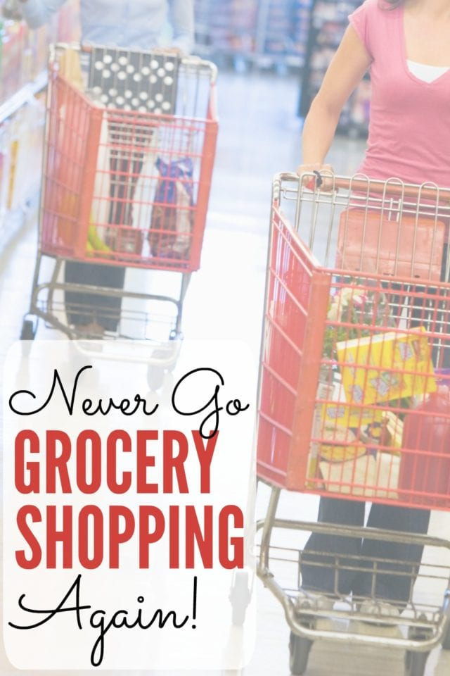 In this century, there is no need to drag yourself through the aisles of your local grocery store! This mama is saving time, effort, and money, and never going grocery shopping again!
