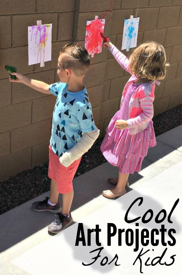 Check out these cool art projects for kids, perfect for alleviating an afternoon of boredom! Great art activity ideas for summer camp, preschool, or homeschooling!